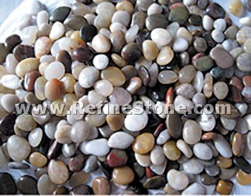 Multicolor polished river pebble