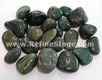 Ocean green polished river pebble