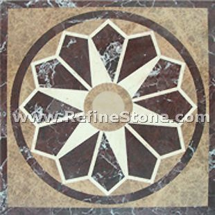 Waterjet inlay patterns or medallion,,C3494