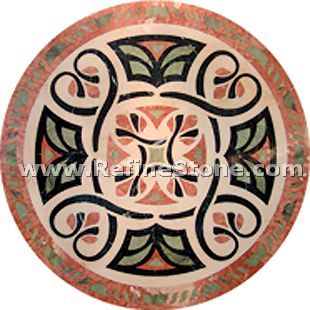 Waterjet inlay patterns or medallion,,C3465