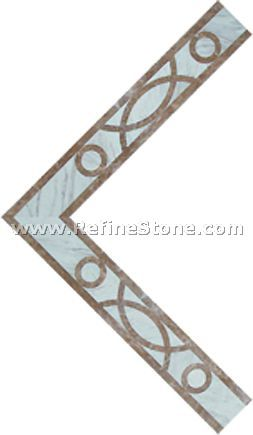 Waterjet inlay patterns or medallion,,C3473