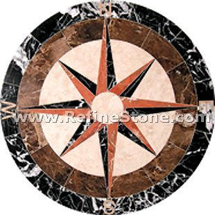 Waterjet inlay patterns or medallion,,C3461