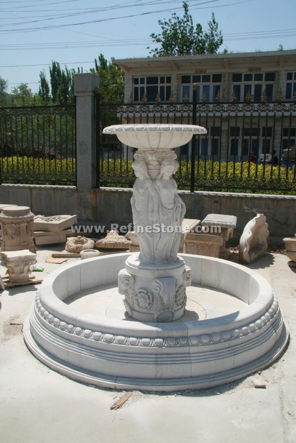 Water fountain,large marble statue fountain,C4871
