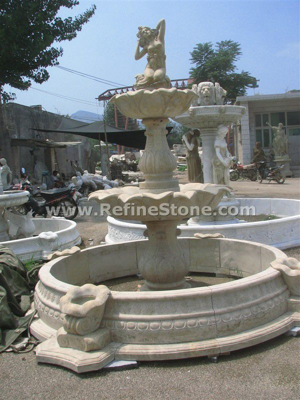 Water fountain,Stone Large Fountain With Nude Lady Statue,C4873