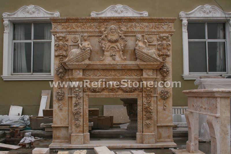 high efficiency stone fireplace