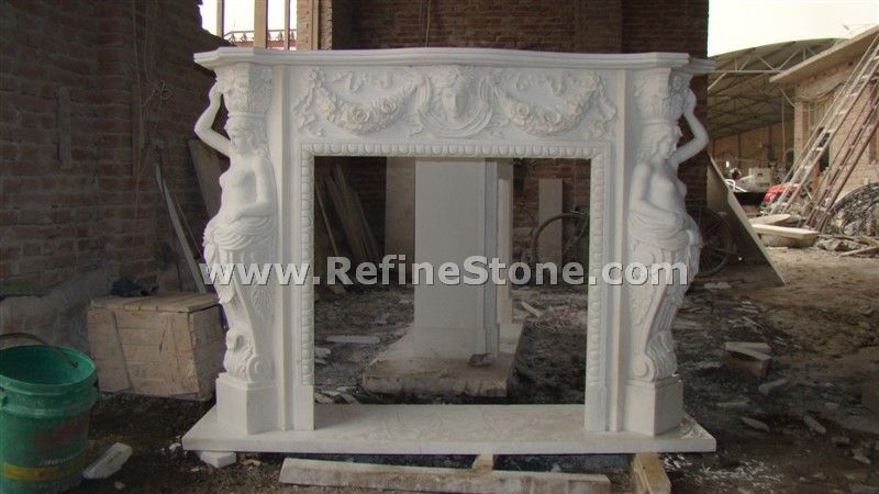 Beauty carving fireplace