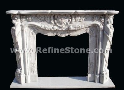 Latest carving fireplace