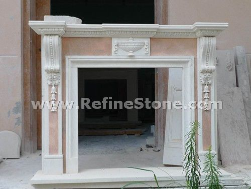 Hand carving fireplace