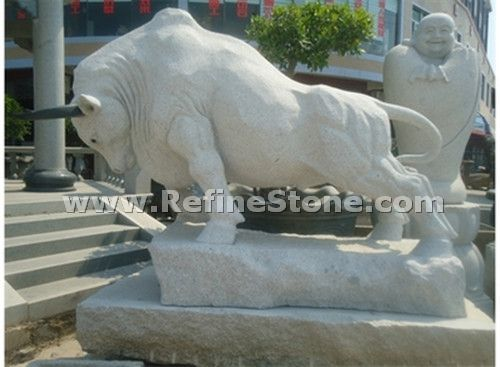 Granite Animal Carvings,Rhinoceros granite carving,C4703