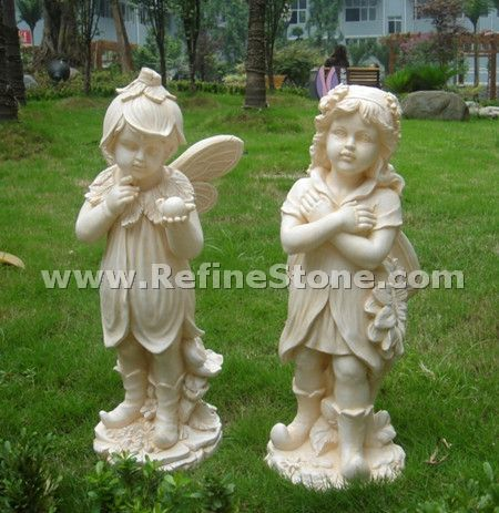 Children marble carving
