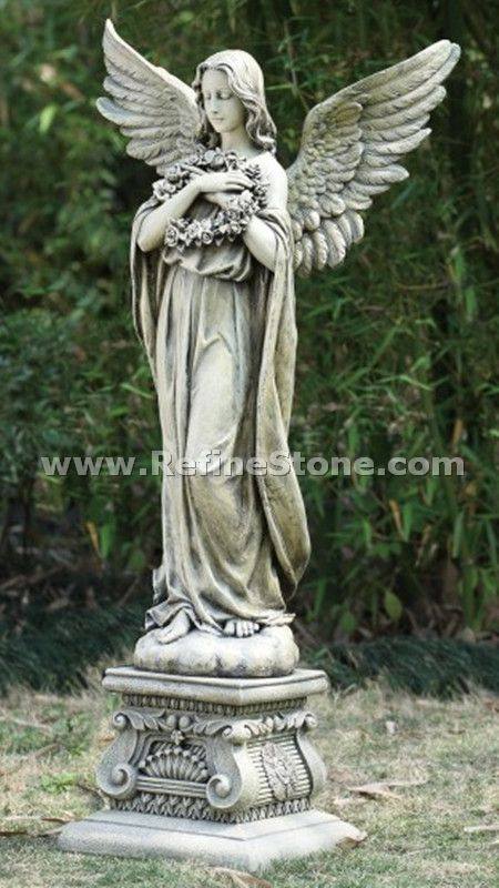 Marble human sculptures angel carvings c