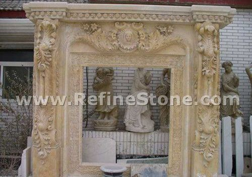 Handcraft marble fireplace statue